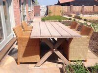 Rattan armchairs for indoors or garden