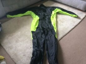Nearly new motorcycle rainsuit