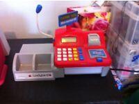 Tills (cash register) with play money