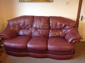 Brown Leather Sofas For Sale (3 seat & 2 seat)