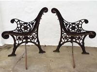 Heavy Ironwork Bench Ends