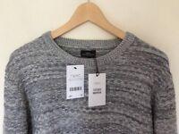 Mens jumper from Next textured knitwear. Bargain.