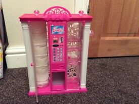 Barbie vending machine and doll
