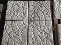 ⭐️ new ⭐️ Cobble circle concrete Paving slabs 450x450x38mm