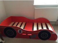 Racing car bed - wooden