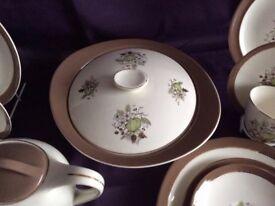 Vintage Linden Lea Dinner Set with Part Tea & Coffee sets 64 pieces