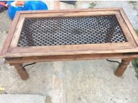 Solid hard wood occasional table