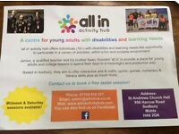 Activity hub for young adults (16-25) with learning needs & disabilities