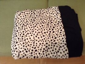 Black and White Spotted Throw