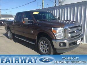 2012 Ford F-250 S/D Lariat Crew Cab 4WD Extra Clean NON Work Tru