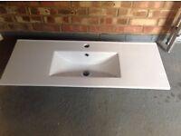 Ceramic bathroom vanity unit top