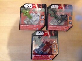 Star Wars Box Busters X 6. Miniature scenes. New and fully packaged (no scuffs). Highly collectable.