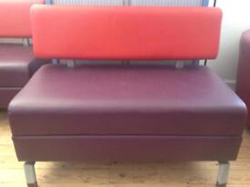4 x Diner booth bench seating heavy duty