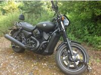 Harley-Davidson XG750 Street. Beautiful 'Dark Custom' Harley in denim (matt) black.