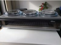 Warming tray / Hostess Sideserver with 3 Pyrex dishes