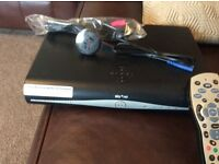 Sky plus HD box with remote control