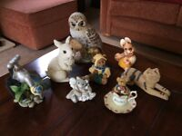 Selection of ornamental animal figures