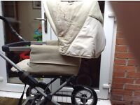 Silver cross sleepover Pram plus car seat that fits on Pram or in car