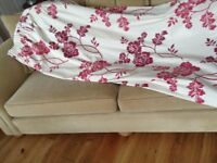 LAURA ASHLEY CURTAINS in CRANBERRY and CREAM