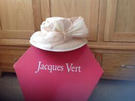 Jacques Vert cream/beige large hat