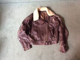 Ladies Leather Bomber Jacket size small