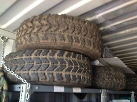 Off road stell wheels with tyres