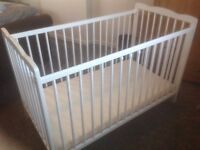 Childs cot with mattress