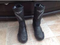Brand new women's Prexport black leather motorbike boots. Size 6