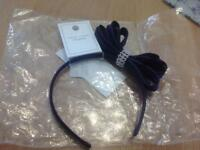 New navy blue fascinator with diamante