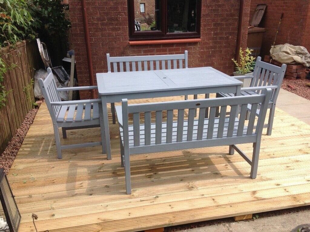 Brilliant Danish Teak Garden Furniture Set For Sale In Skelmorlie North Ayrshire Gumtree Cjindustries Chair Design For Home Cjindustriesco