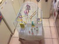 Bird cage with accessories medium size