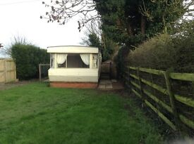 2 Bed mobile home to rent with own enclosed garden, part of a farm