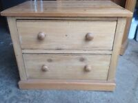 Lovely small 2 drawer chest