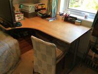 Ikea Galant desk - pale wood