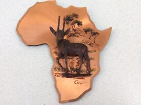 African Gastone copper wall plaque