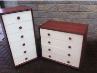 Pair of colour matching bedroom drawers