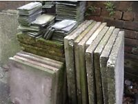 Quantity of reclaimed house bricks and slabs.