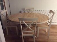 Epsom extendable dining table with 6 chairs