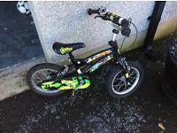 Boy's Ben Ten bike with stabilisers