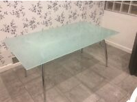 Toughened glass kitchen/dinning room table