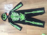 Halloween Skeleton dress up outfit age 3-4 years