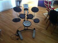 Roland HD-3 V drum Lite electronic drum kit, stool, Sennheiser headphones & 2 sets of drumsticks.