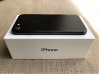 Apple iPhone 7 Black 128GB unlocked/sim free fully boxed with accessories