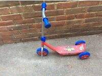 Kids chuggington scooter, tough, three wheels