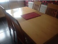 Six Seater Ding Table and Chairs