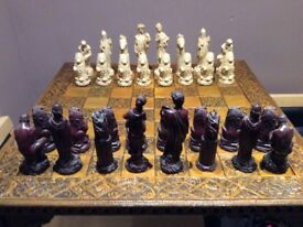 Chess board table set