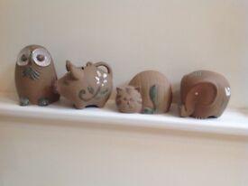 Pottery animal money boxes