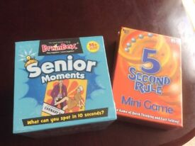 5 second rule and senior moments.