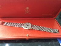 Diamond Royoma 18kt white gold gents watch,saffire crown winder,vs1 diamond face,absolutely beautifu