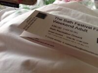 2 reduced all weekend tickets for Bath Festival 26 and 27 May. 2 tickets for sale.